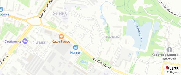 22 Партсъезда 1-й переулок на карте Старого Оскола с номерами домов