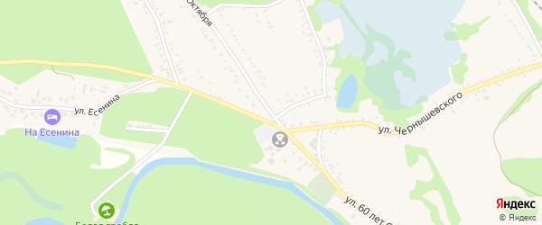 Улица 60 лет Октября на карте поселка Волоконовки с номерами домов