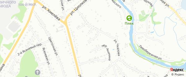 Переулок Чкалова на карте Старого Оскола с номерами домов