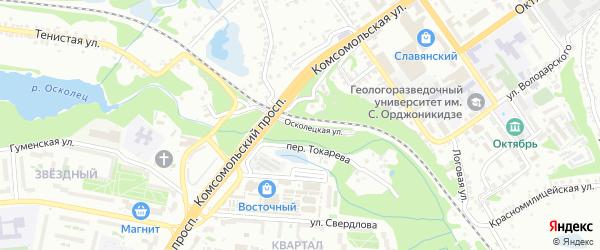 Осколецкая улица на карте Старого Оскола с номерами домов