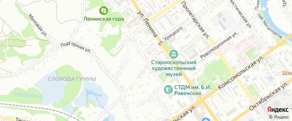 Первомайская улица на карте Старого Оскола с номерами домов