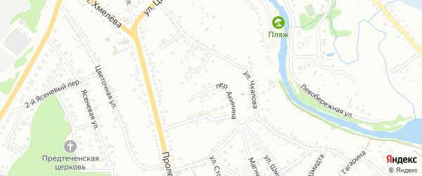 Переулок Акинина на карте Старого Оскола с номерами домов