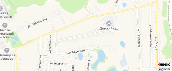 Улица Крупской на карте поселка Пятницкого с номерами домов