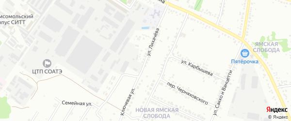 Улица Лихачева на карте Старого Оскола с номерами домов