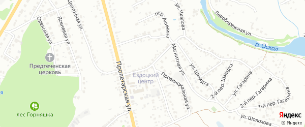 Улица Акинина на карте Старого Оскола с номерами домов