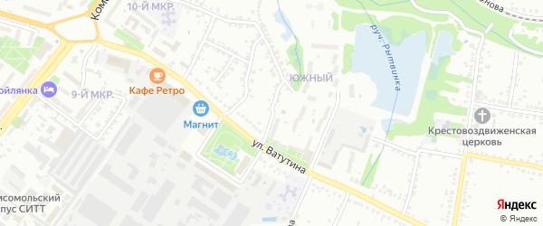 22 Партсъезда 2-й переулок на карте Старого Оскола с номерами домов