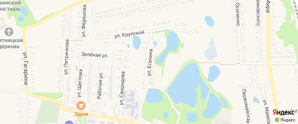 Улица Есенина на карте поселка Пятницкого с номерами домов