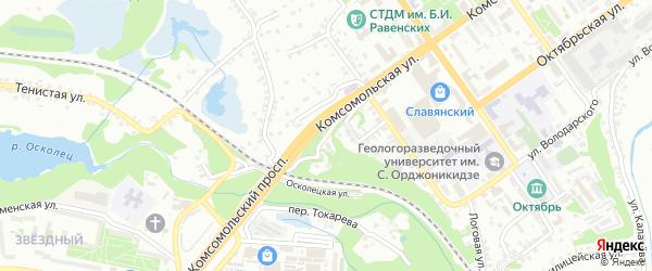 Холостая улица на карте Старого Оскола с номерами домов