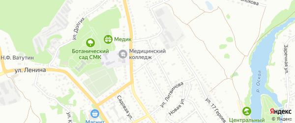 Пролетарский переулок на карте Старого Оскола с номерами домов