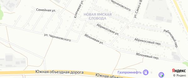 Яблоневая улица на карте Старого Оскола с номерами домов