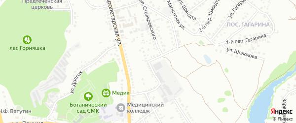 Улица Столяревского на карте Старого Оскола с номерами домов