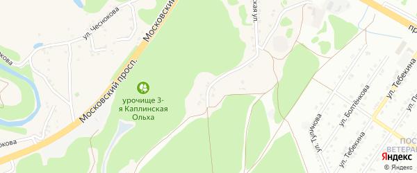 Московская улица на карте села Каплино с номерами домов