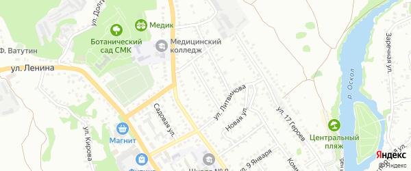 Улица Новоселовка на карте Старого Оскола с номерами домов