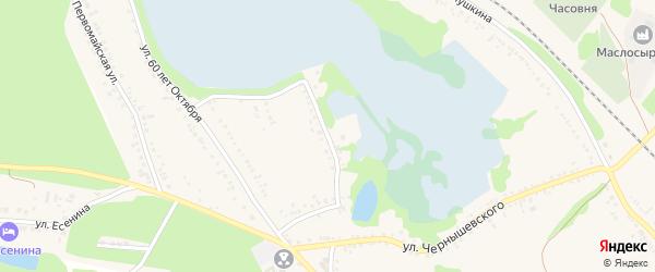 Переулок 60 лет Октября на карте поселка Волоконовки с номерами домов