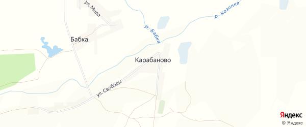 Карта села Карабаново в Белгородской области с улицами и номерами домов