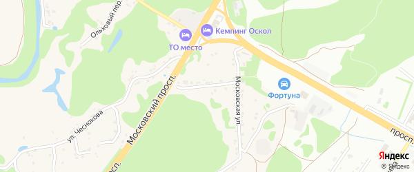 Московский переулок на карте села Каплино с номерами домов