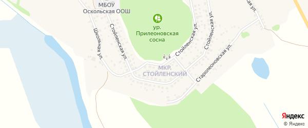 Стойленская улица на карте села Леоновки с номерами домов