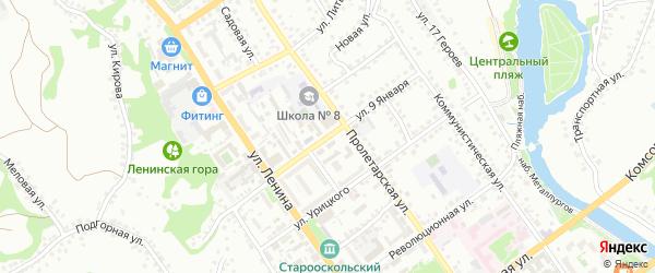 Улица 9 Января на карте Старого Оскола с номерами домов
