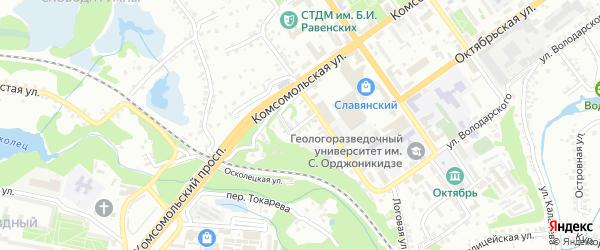 Демократический переулок на карте Старого Оскола с номерами домов