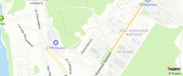 Канатная улица на карте Старого Оскола с номерами домов