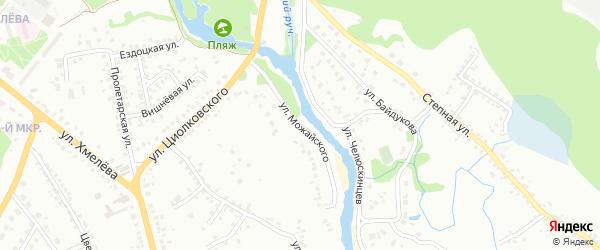 Улица Можайского на карте Старого Оскола с номерами домов