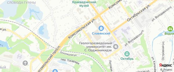 Демократическая улица на карте Старого Оскола с номерами домов