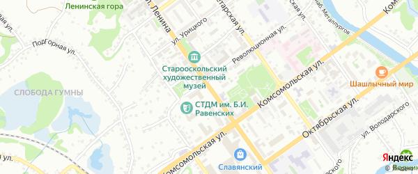 Переулок Фрунзе на карте Старого Оскола с номерами домов