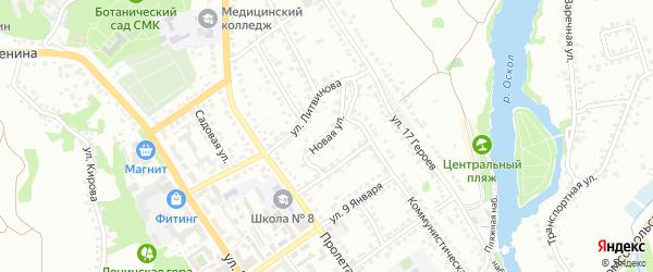 Новая улица на карте Старого Оскола с номерами домов