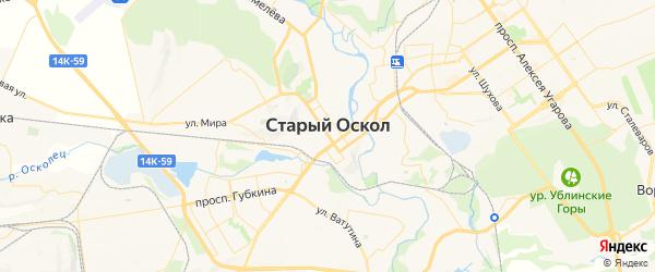 Карта Старого Оскола с районами, улицами и номерами домов: Старый Оскол на карте России