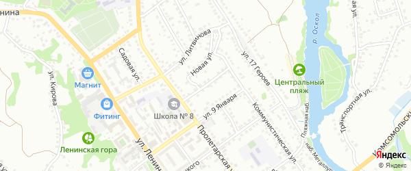Коммунистический переулок на карте Старого Оскола с номерами домов