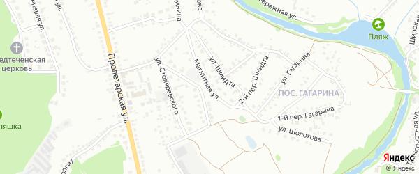 Магнитная улица на карте Старого Оскола с номерами домов