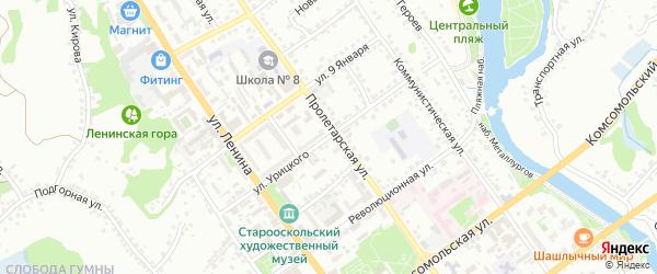 Улица Урицкого на карте Старого Оскола с номерами домов