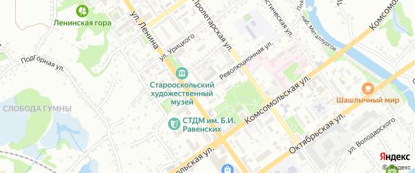 Революционная улица на карте Старого Оскола с номерами домов