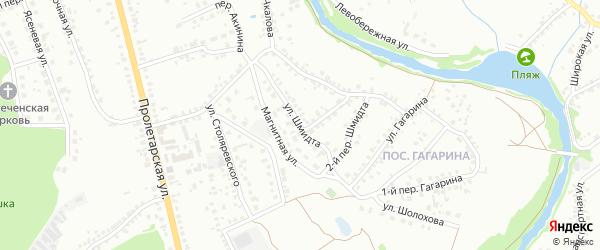 Улица Шмидта на карте Старого Оскола с номерами домов
