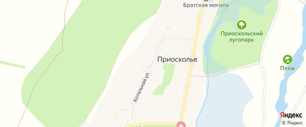 Котельная улица на карте села Приосколье с номерами домов