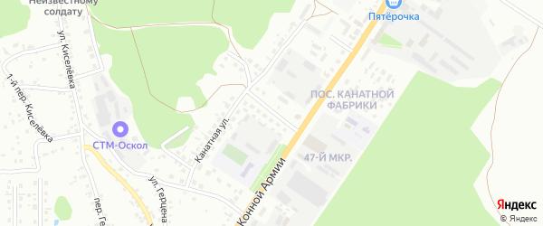 1-й Канатный переулок на карте Старого Оскола с номерами домов