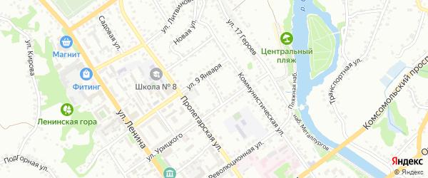 Гая улица на карте Старого Оскола с номерами домов