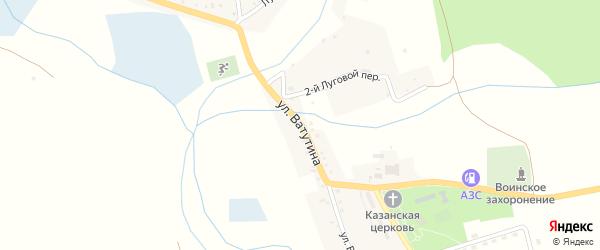 Улица Ватутина на карте села Казинки с номерами домов