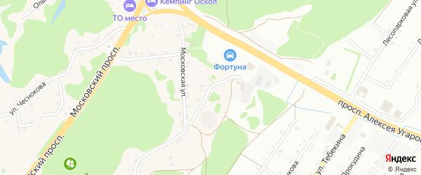 2-й Московский переулок на карте села Каплино с номерами домов