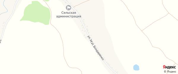 Улица Бондаренко на карте села Погромца с номерами домов