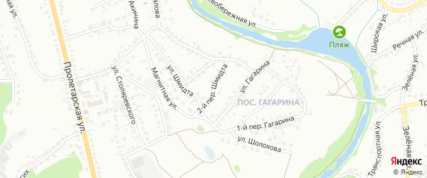 Переулок 2-й Шмидта на карте Старого Оскола с номерами домов
