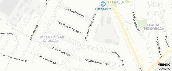 Улица Сакко и Ванцетти на карте Старого Оскола с номерами домов