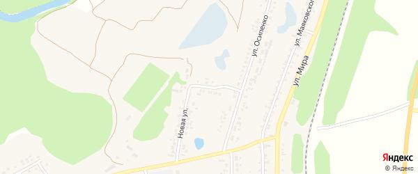 Новая улица на карте поселка Пятницкого с номерами домов