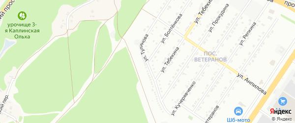 Улица Тулинова на карте Старого Оскола с номерами домов