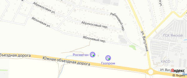 Яблоневый переулок на карте Старого Оскола с номерами домов