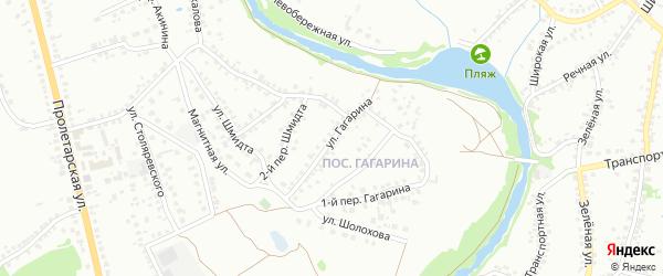 Улица Гагарина на карте Старого Оскола с номерами домов