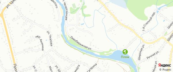 Левобережная улица на карте Старого Оскола с номерами домов