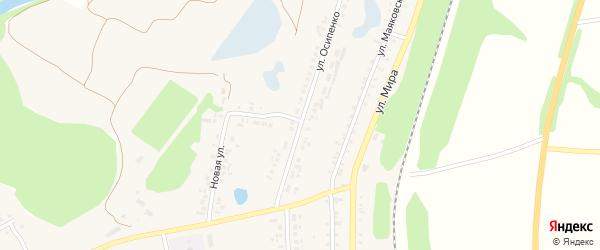 Улица Осипенко на карте поселка Пятницкого с номерами домов