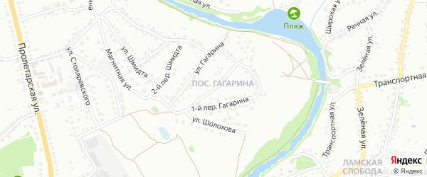 Переулок 2-й Гагарина на карте Старого Оскола с номерами домов