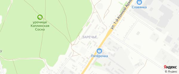 Микрорайон Заречье на карте Старого Оскола с номерами домов